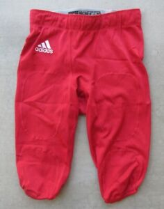 ADIDAS CLIMALITE RED FOOTBALL GAME PRACTICE PANTS WITH INSERTS SIZE MEDIUM