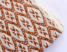 100% Cotton Voile Hand Block Pineapple Print Fabric Natural Dyes Indian Art