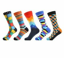 Men Combed Cotton Socks Comfortable Colorful Breathable Business Wedding Sock
