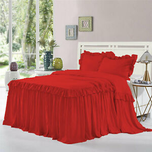 """1 Piece 800tc EgyptianCotton New Dust Ruffle Bed Spread 15"""" drop all size &color"""