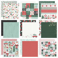 "Kaisercraft Peppermint Kisses 12x12"" - Double Sided Christmas Scrapbooking Paper"