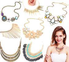 Declaración Colgante Flor Retro Henna Vintage Collares Gargantilla Pechera Collar de cadena