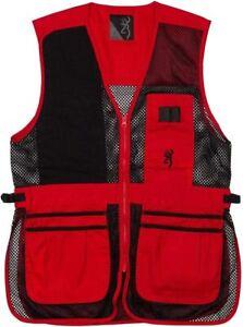 Browning Trapper Creek Mesh Shooting Vest Black Red Men's Medium 3050267102
