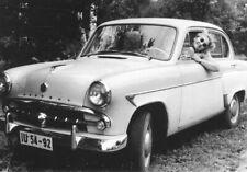 Moskvitch 407. Woman sunglasses. Vintage photo 1950. 10x7 cm. G739