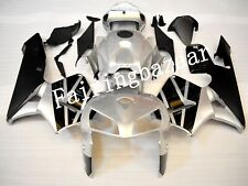 Fit for CBR600RR 2005 2006 Black Silver ABS Plastic Injection Fairing Kit