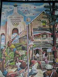 Ernie Barnes Limited Edition Signed Olympic (NHG) Poster #ed 096/300