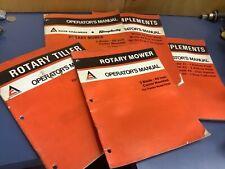 5 Allis Chalmers Operator Manual Implements Loader Mower Posthole Disc Plow Oem