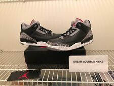 Air Jordan 3 Retro 2011 Black Cement 136064-010 Deadstock Size 12