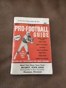 VERY RARE VINTAGE 1969 NFL/AFL PRO-FOOTBALL GUIDE, SNIBBE SPORTS NC.