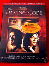 The Da Vinci Code: Deluxe Ed. 3 DVDs LN OOP Tom Hanks Ian McKellan Audrey Tautou