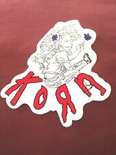 """KORN Follow the Leader 4 5/8""""x5"""" color in STICKER DECAL new old stock"""