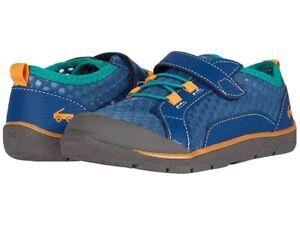 NIB See Kai Run Navy/Teal Anker Machine Washable Mesh Shoes Size 11