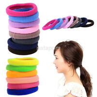 50 Pcs Kids Girl Lady Elastic Rubber Hair Bands Ponytail Holder Head Rope Ties