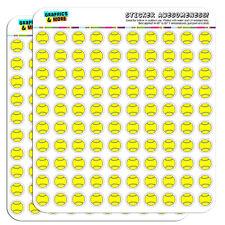 "Cartoon Tennis Ball 0.5"" Scrapbooking Crafting Stickers"