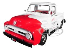 1953 FORD F-100 SO-CAL SPEED SHOP PUSH TRUCK WHITE & RED 1/18 BY ACME A1807208