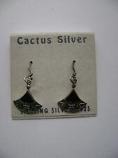 Sterling Silver Thai Onyx Hook Earrings New Old Stock