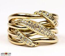 Sonia Bitton 14k Multi-Row Crossover 0.20ctw Diamond Ring Size 8.5 US