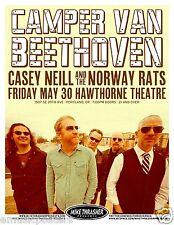 CAMPER VAN BEETHOVEN 2014 PORTLAND CONCERT TOUR POSTER