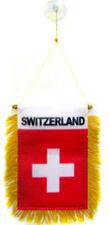 "Switzerland Mini Flag 4""x6"" Window Banner w/ suction cup"
