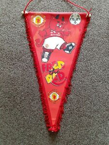 Fred The Red Manchester United Vintage Pennant  Size 40cm