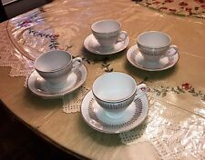 Royal Knight Tradional Dinnerware Cup & Saucer 4 Sets   22 ct. Gold