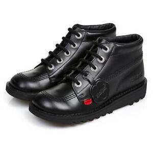 Kickers Kick Hi Womens Ladies Boys Girls Black Ankle Boots Size Adult 3-6