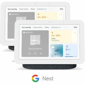 Google Nest Hub 2nd Gen Smart Display w/ Assistant, Charcoal GA01892-US (2-Pack)