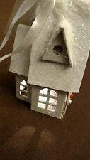Lighted LED Paper Holiday Church House Christmas Ornament New with Tag