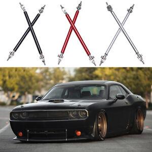 2x For Dodge Challenger SRT SXT RT Bumper Lip Splitter Strut Rod Tie Support Bar