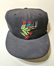 VTG Everett AquaSox New Era Baseball Hat sz 7 Minor League 90s retro Wool Frog