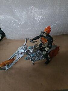 Marvel Hasbro 2006 Ghost Rider Figure & Motorcycle Bike Lights + Sounds
