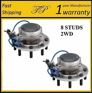 Front Wheel Hub Bearing Assembly For 2001-2006 CHEVY SILVERADO 2500 HD 2WD PAIR