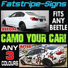 VW BEETLE CAMO GRAPHICS STICKERS STRIPES DECALS VOLKSWAGEN 1.4 1.6 1.8 TURBO BUG