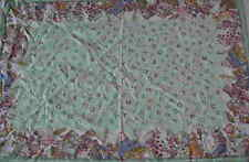 Hungry Animal Alphabet green crib quilt flannel panel South Seas fabric