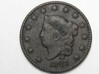 Better-Date 1827 US Coronet Head Large Cent.  #15