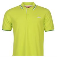 BNWT classic genuine Slazenger Tipped Polo T Shirt Mens stripe collar size Med