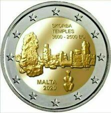 2 EURO MALTA commemorative 2020 - TEMPLI DI SKORBA - FDC UNC -per i più veloci.