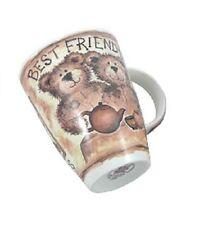 Roy Kirkham Fine English Bone China Tea or Coffee Mug Teddy Bears BEST FRIENDS