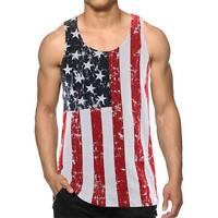Calhoun Sportswear USA American Flag Stars And Stripes Men's Tank Top