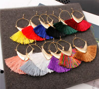 Fashion Bohemian Earrings Women Vintage Long Tassel Fringe Boho Dangle HOT-