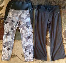 Two pair Exercise Pants Capris Gap Fit Sculpt M Jockey S