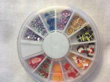 3D Polymer Clay Tiny Fimo Fruit/Cake/Flower/Nail Art/Diamante/Stocking Filler
