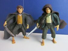 "lord of the rings MERRY & PIPPIN 5"" ACTION FIGURE SET lot fellowship of the ring"