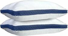 2-Pack Hypoallergenic Gusseted Quilted Queen Neck Support Extra Firm Bed Pillows