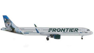 1:400 AeroClassics FRONTIER AIRBUS A321 Passenger Airplane Diecast Plane Model