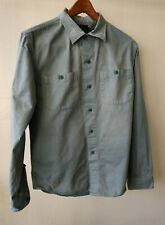 RRL & Co RALPH LAUREN Mens EQUIPMENT SERVICE & PARTS DRESS SHIRT BLUE/GREEN Sz M