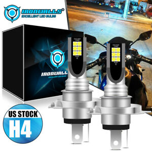 H4 9003 LED Headlight Bulb 55W High/Low Beam Light for Motorcycle Moped Scooter