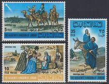 Jordanien Jordan 1966 ** Mi.629/31 A Weihnachten Christmas Maria Josef Religion