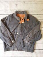 Baracuta Sportsman Vintage Jacket Medium 1980s 1990s Grey Orange Sports