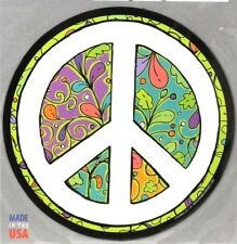 PEACE SIGN MAGNET floral FLOWERS car fridge magnetic decal Mad Mags